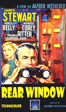 REAR WINDOW the classic Hitchcock mystery thriller