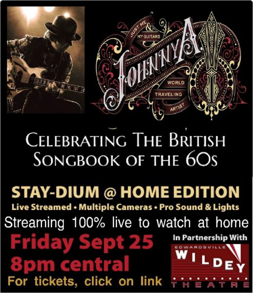 Johnny A. Stay-dium at Home (100% live streaming concert from Boston to watch at home)